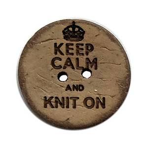 Bilde av Keep Calm and Knit On Knapp