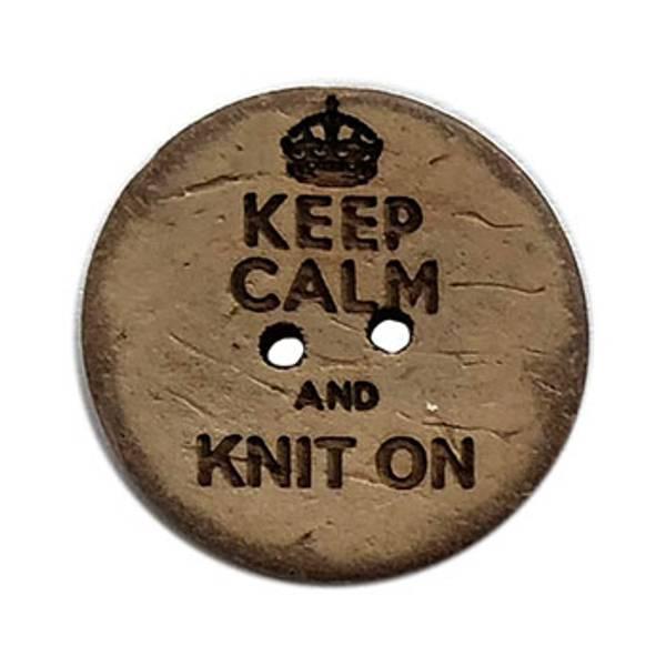 Keep Calm and Knit On Knapp