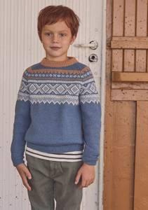 Bilde av Marius Genser med raglan til barn - Garnpakke